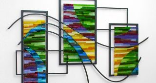 Cheap Fused Glass Wall Art