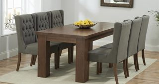 Dark Solid Wood Dining Tables
