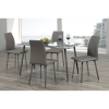 Adan 5 Piece Solid Wood Dining Sets (Set of 5) (Photo 9 of 25)
