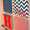 Fabric Covered Squares Wall Art (Photo 5 of 15)