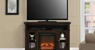 """Neilsen Tv Stands for Tvs Up to 50"""" With Fireplace Included"""