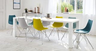 White Gloss Extendable Dining Tables