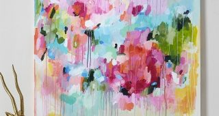 Abstract Floral Canvas Wall Art