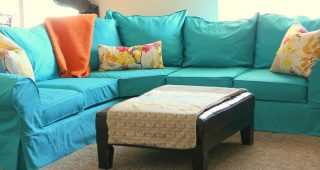 Slipcover for Leather Sectional Sofas