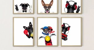 Dogs Canvas Wall Art