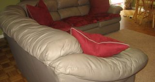 Slipcover for Leather Sofas