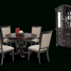 Valencia 5 Piece Round Dining Sets With Uph Seat Side Chairs (Photo 23 of 25)