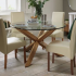 Oak and Glass Dining Tables