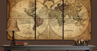 Vintage Map Wall Art
