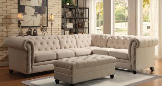 Tufted Sectional Sofas With Chaise