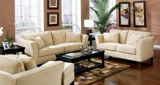 Cream Colored Sofa