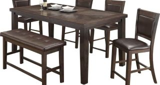 Gavin 6 Piece Dining Sets With Clint Side Chairs