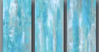 Blue Canvas Abstract Wall Art