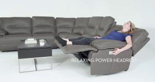 Marcus Grey 6 Piece Sectionals With Power Headrest & Usb