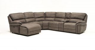 Norfolk Grey 6 Piece Sectionals With Laf Chaise