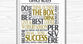 Inspirational Wall Art for Office