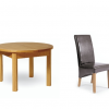 Round Oak Extendable Dining Tables and Chairs (Photo 19 of 25)