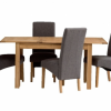 Oak Dining Tables and Fabric Chairs (Photo 12 of 25)