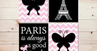 Paris Theme Wall Art