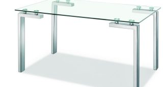 Parsons Clear Glass Top & Dark Steel Base 48X16 Console Tables