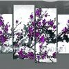 Purple Flowers Canvas Wall Art (Photo 12 of 15)