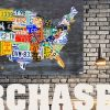 License Plate Map Wall Art (Photo 13 of 20)