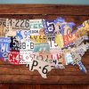 License Plate Map Wall Art (Photo 11 of 20)