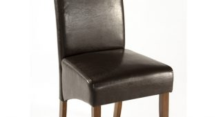 Dark Brown Leather Dining Chairs