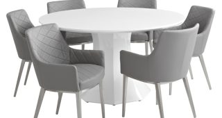 White Circle Dining Tables