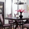 Jaxon 5 Piece Round Dining Sets With Upholstered Chairs (Photo 8 of 25)