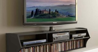 Console Under Wall Mounted Tv