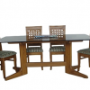 Wooden Glass Dining Tables (Photo 2 of 25)