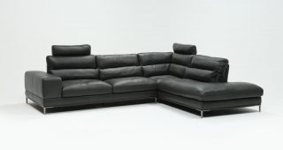 Tenny Cognac 2 Piece Right Facing Chaise Sectionals With 2 Headrest