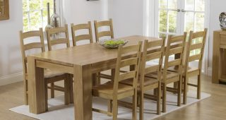 Oak Dining Tables 8 Chairs