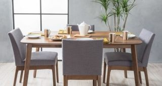 Gavin 7 Piece Dining Sets With Clint Side Chairs