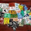 License Plate Map Wall Art (Photo 14 of 20)