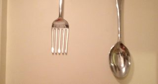 Large Spoon and Fork Wall Art