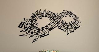 Music Notes Wall Art Decals