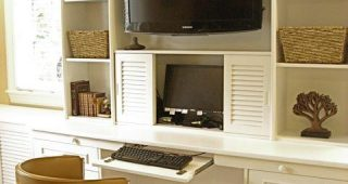 Tv Stand and Computer Desk Combo