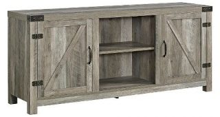 """Modern Farmhouse Style 58"""" Tv Stands With Sliding Barn Door"""