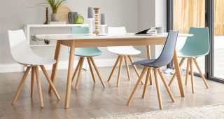 White Extendable Dining Tables and Chairs